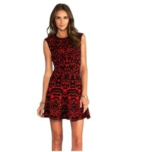 Torn by Ronny Kobo M red black sweater dress